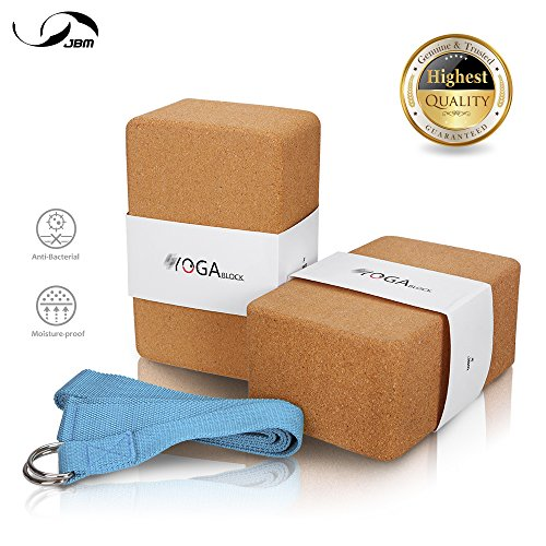 JBM Yoga Blocks 2 pack Plus Strap
